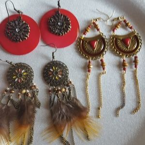 Lot of 3 sets of earrings